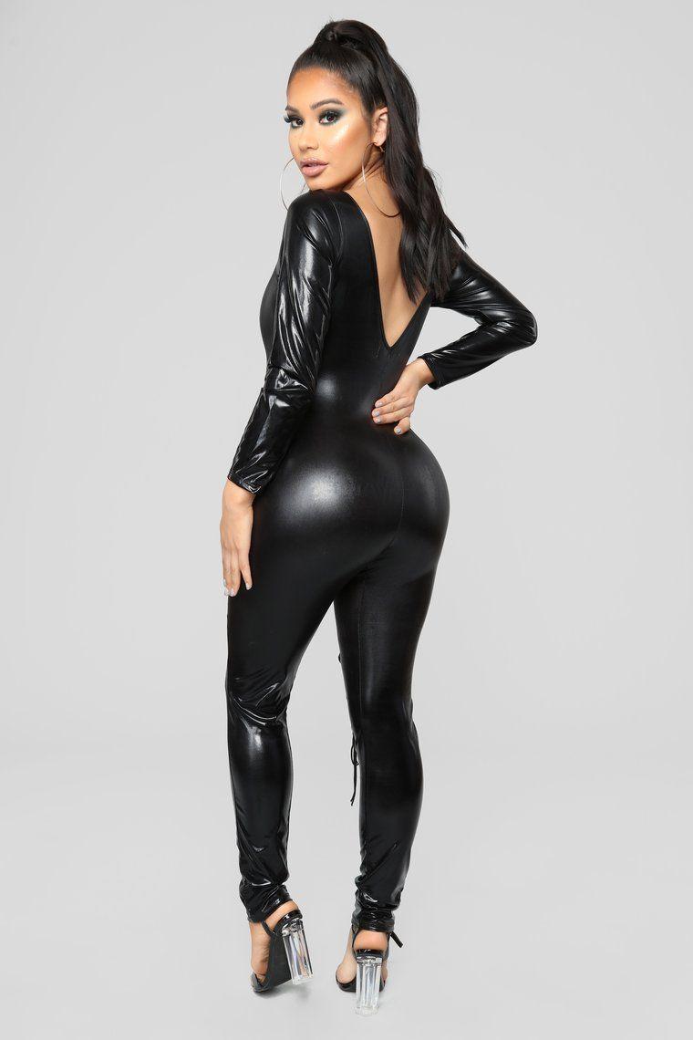 ef643c9f82ef1b Dark Knight Latex Jumpsuit - Black | Sexy things | Black jumpsuit ...