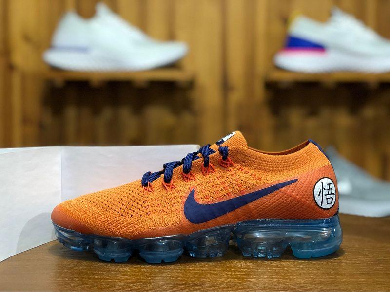 0496099fb7dc 2018 Nike Air Vapormax Flyknit 2.0 Mens Athletic Shoes Dragonball Orange  Blue