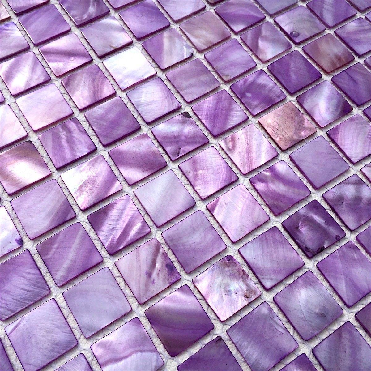 Mosaique Pour Sol Et Mur Douche Et Sdb 1m2 Odyssee Violet Carrelage Mosaique Carrelage Mosaique Carreaux De Mosaique De Verre Mosaique