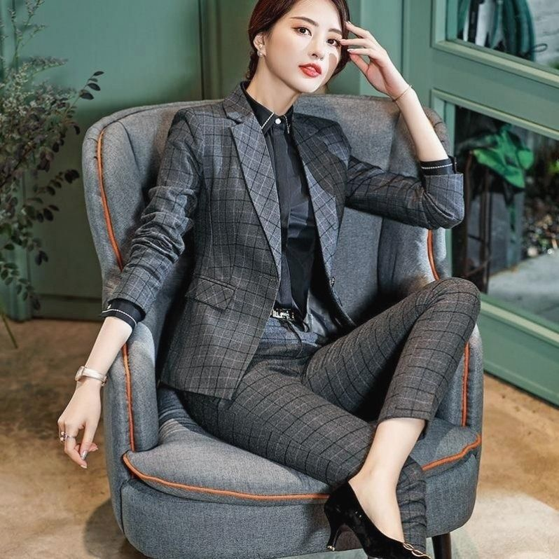 Plaid Pant Suit