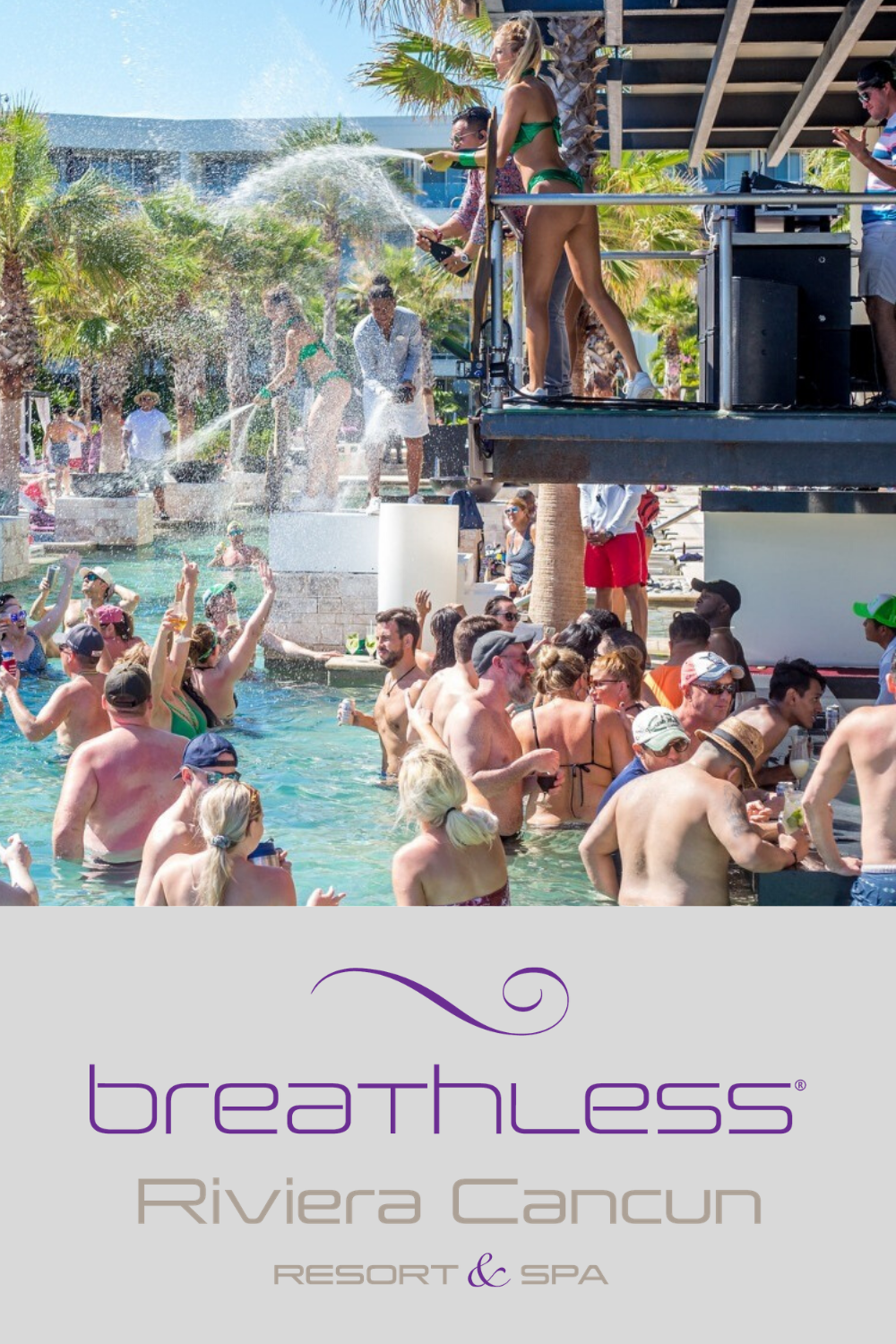 Hands Down The Pool Parties At Breathless Riviera Cancun Are The Best Around Riviera Cancun Resort Riviera Cancun Cancun Resorts