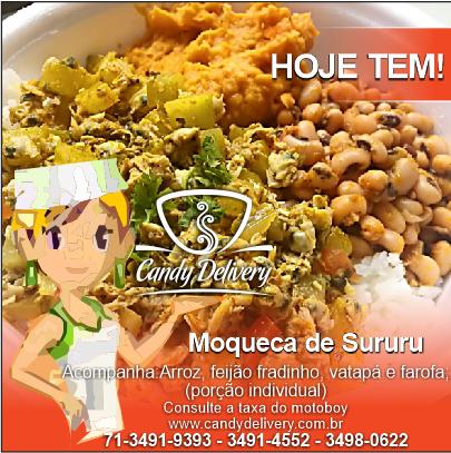 CARDÁPIO DE SEXTA-FEIRA 15/04/2016 Confira nosso cardápio completo em www.candydelivery.com.br Peça Já: 71 3491-9393 • 3491-4552 - 3498-0622 #querocomerbem #candydelivery