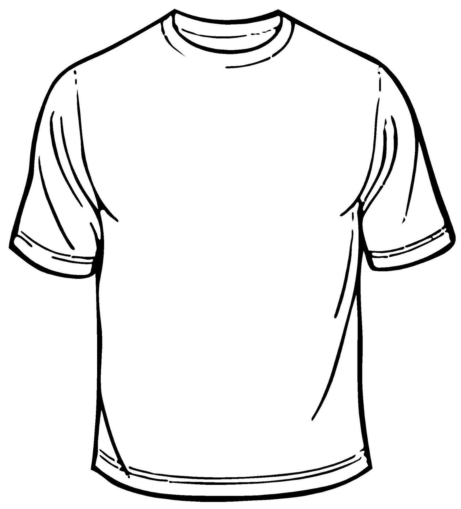 blank t shirt coloring sheet printable | Kaos, Desain