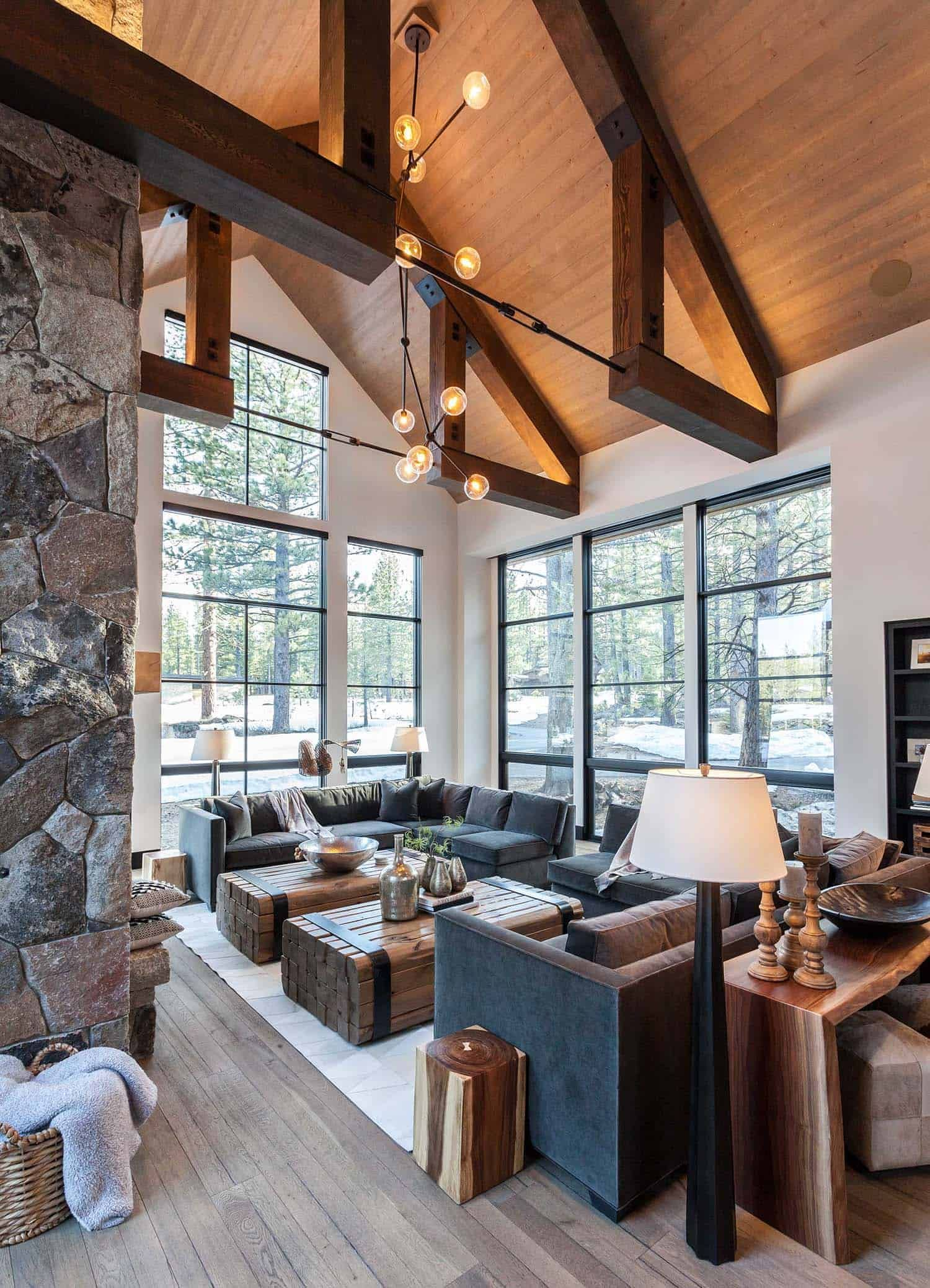 60 Most Popular Living Rooms Featured On One Kindesign For 2019 In 2020 Lake House Dining Room Lake House Dining Modern Lodge