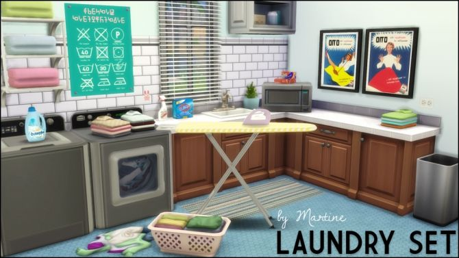 Sims 4 Updates Set Includes Vintage Laundry Prints 3
