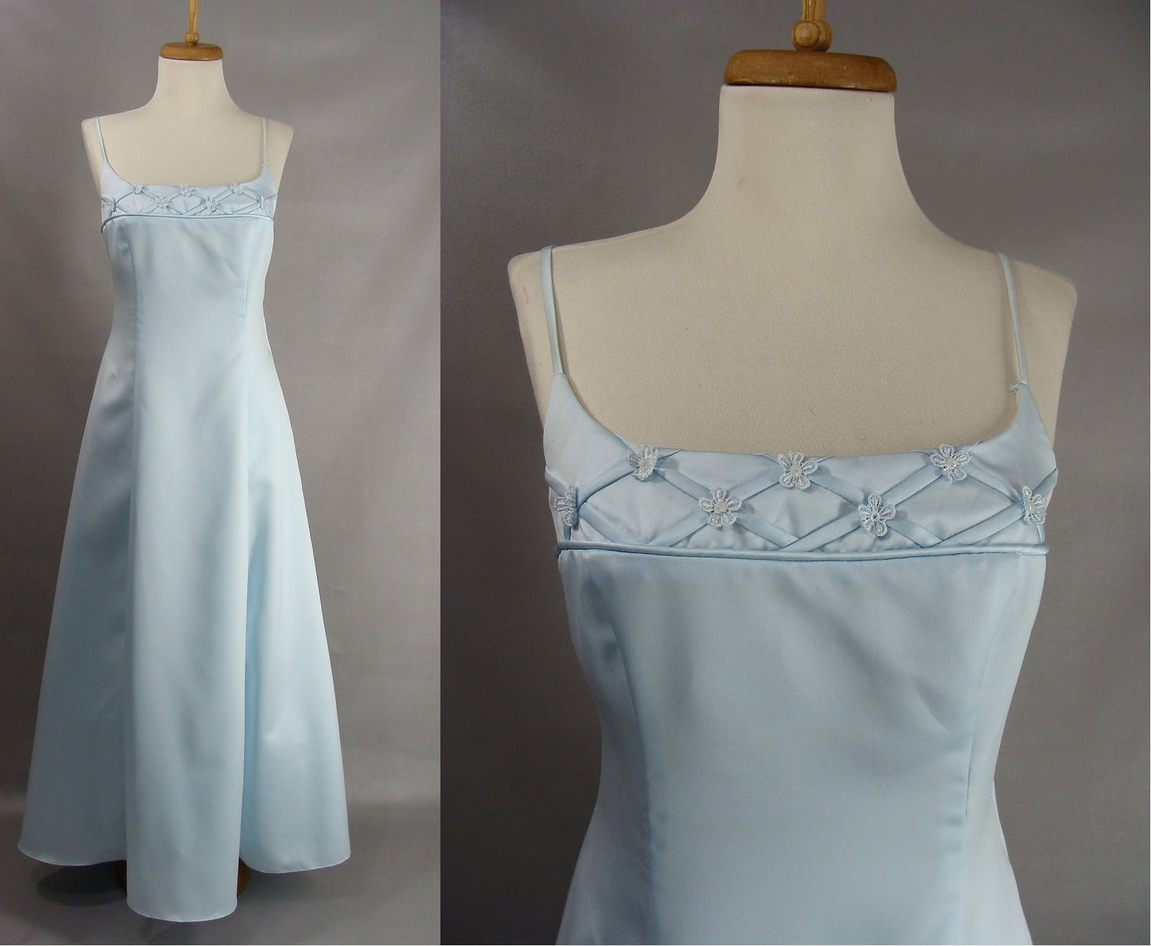 Blank Slate as-is. 90s Pale Blue Prom Gown by Betsy & Adam OR ...