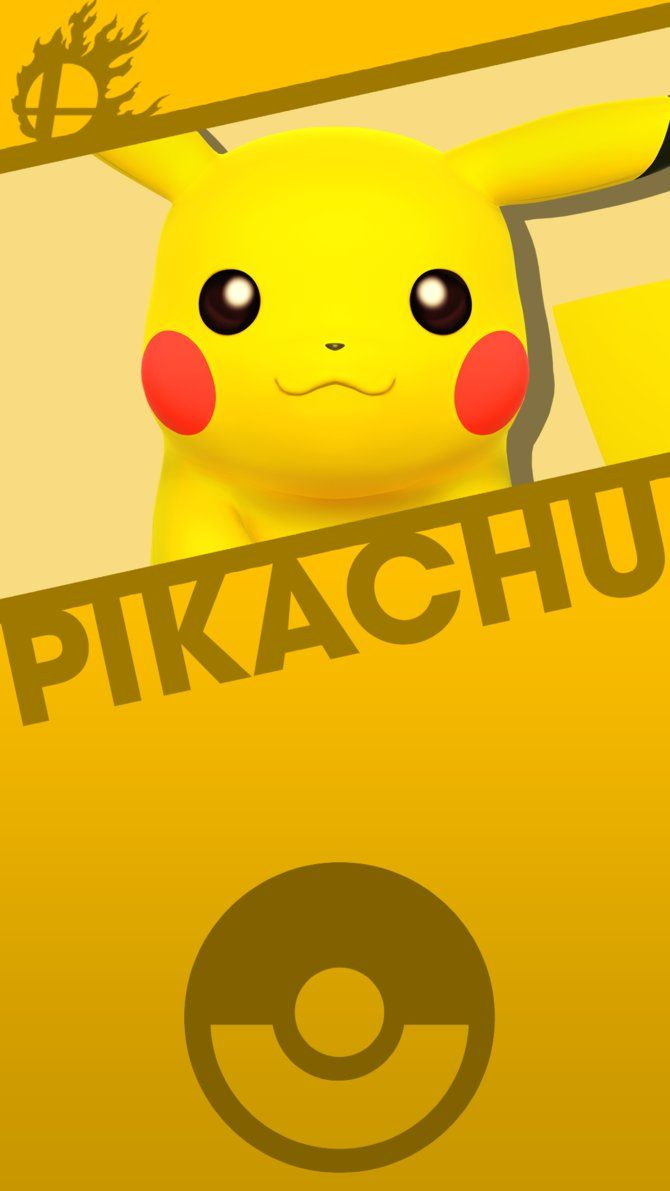 Pikachu Smash Bros Phone Wallpaper By Mrthatkidalex24 On