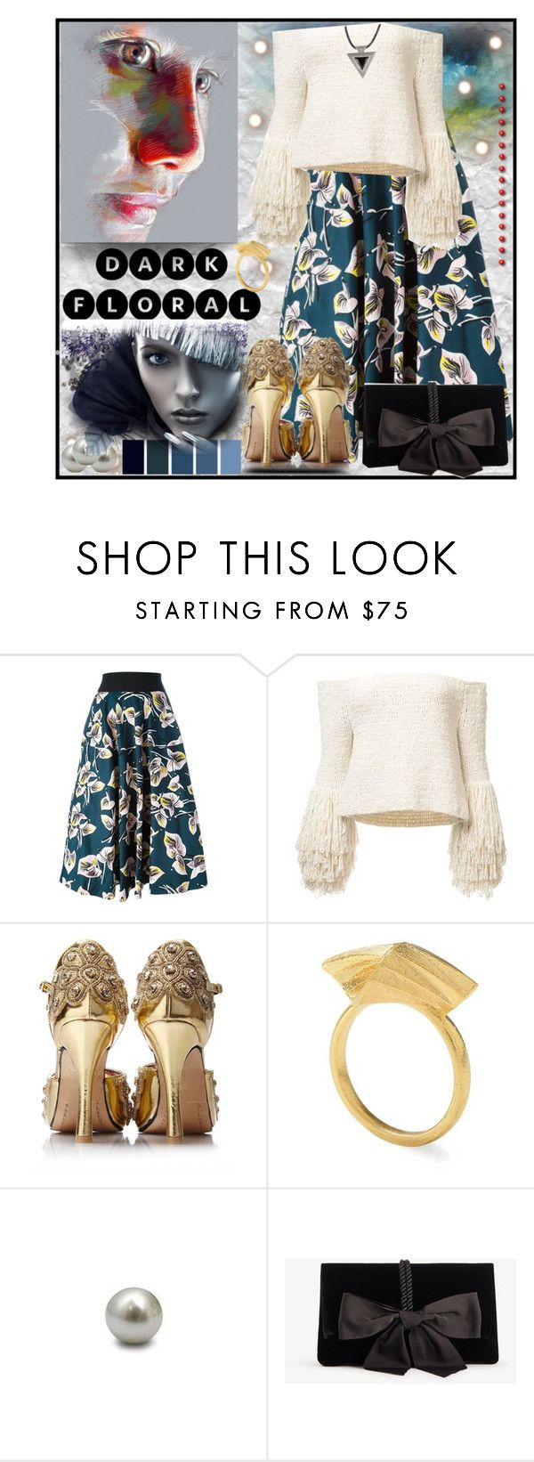 """Dark Florals"" by jeneric2015 ❤ liked on Polyvore featuring Marni, S/H KOH, Ann Taylor and darkflorals"