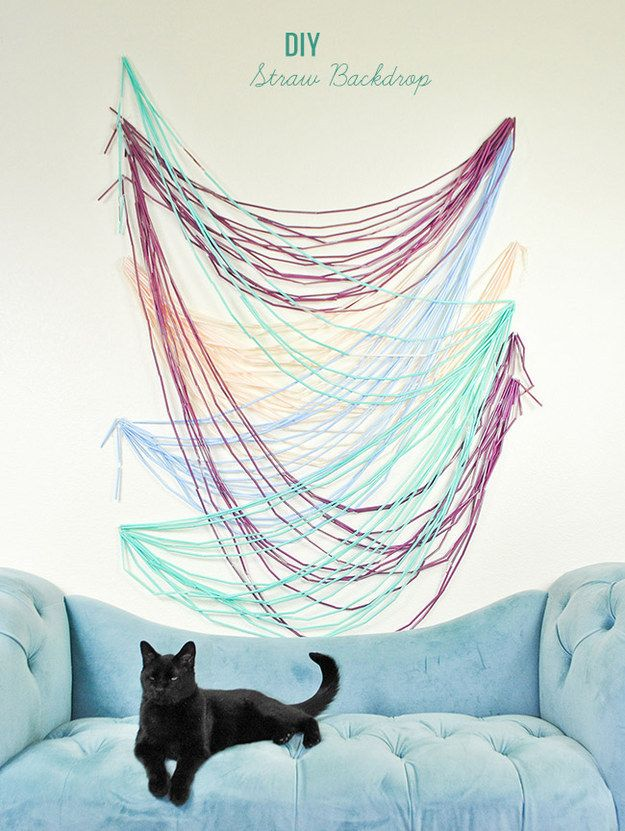 This awesome art was made with straws awesome art upcycle and crafts diy straw backdrop backdrop straw cute crafts diy diy crafts crafty craft ideas craft do it yourself diy ideas solutioingenieria Image collections