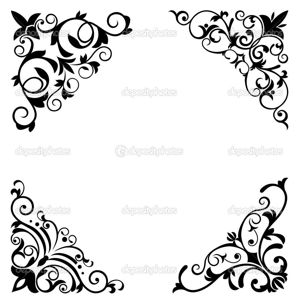 floral pattern border stencil flower patterns and