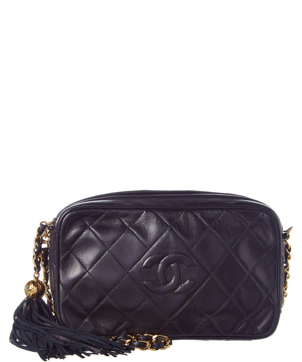 db3f81148566 CHANEL Chanel Navy Quilted Lambskin Leather Medium Cc Camera Bag'. #chanel # bags #shoulder bags #leather #lining #