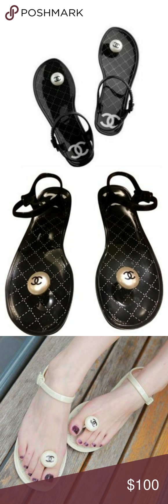 b9f4c4ee7cca Chanel thong sandals Chanel mushroom thong sandals cc Shoes Flats   Loafers