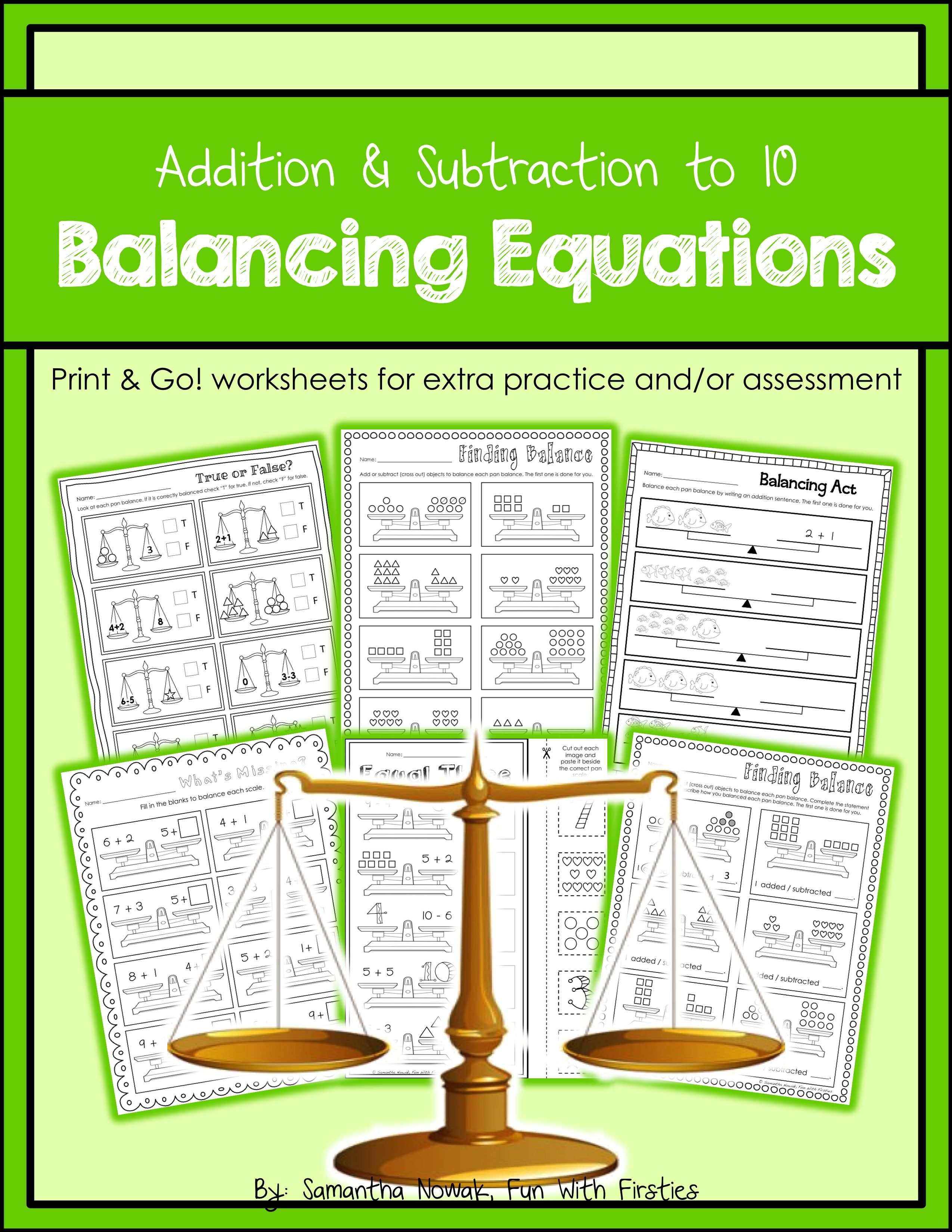 Balancing Equations Balancing Equations Equations Math Resources [ 3299 x 2549 Pixel ]