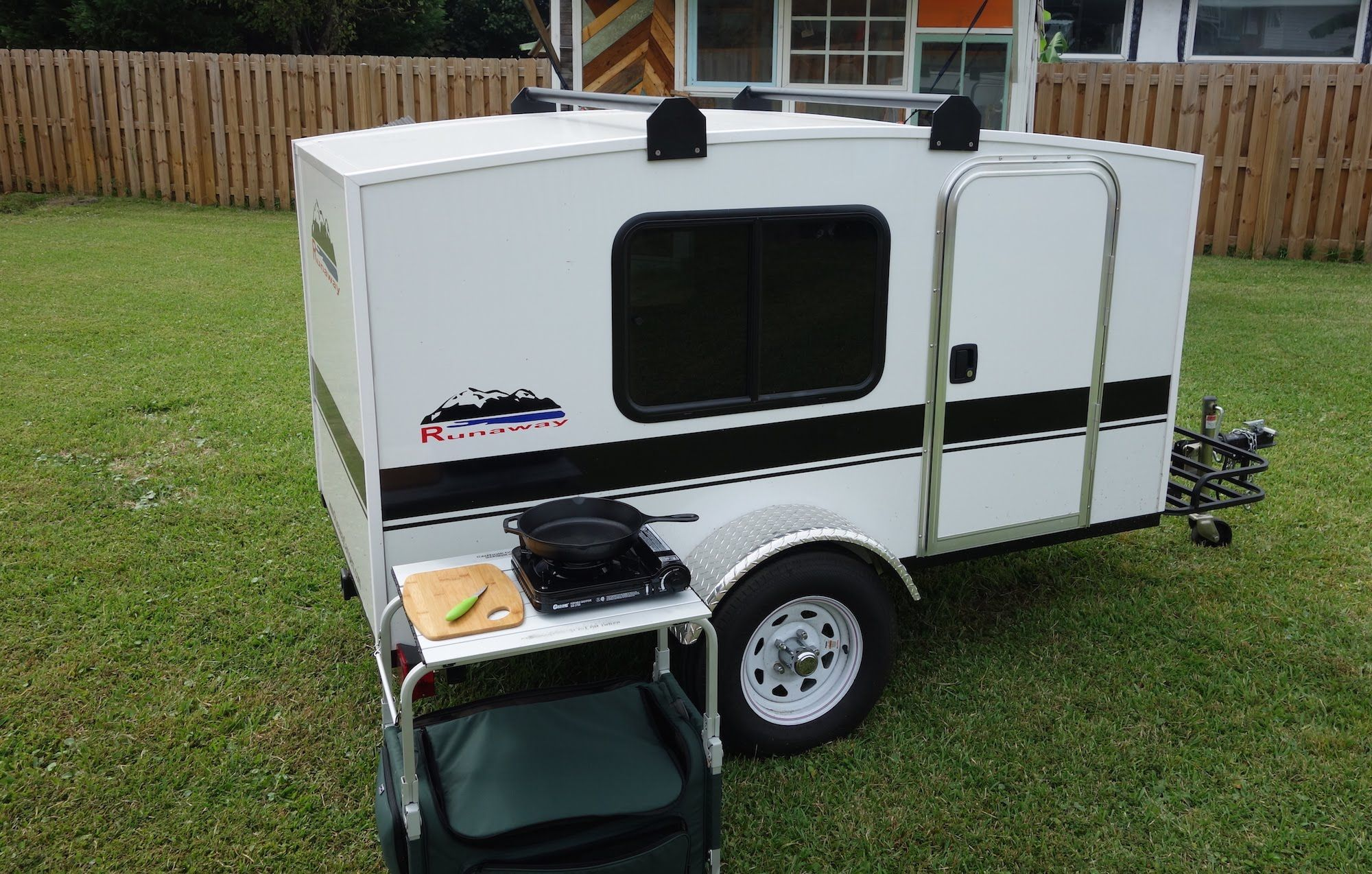 Camper Trailer Kitchen My Micro Camper From Runaway Campers Doesnt Have A Kitchen In It