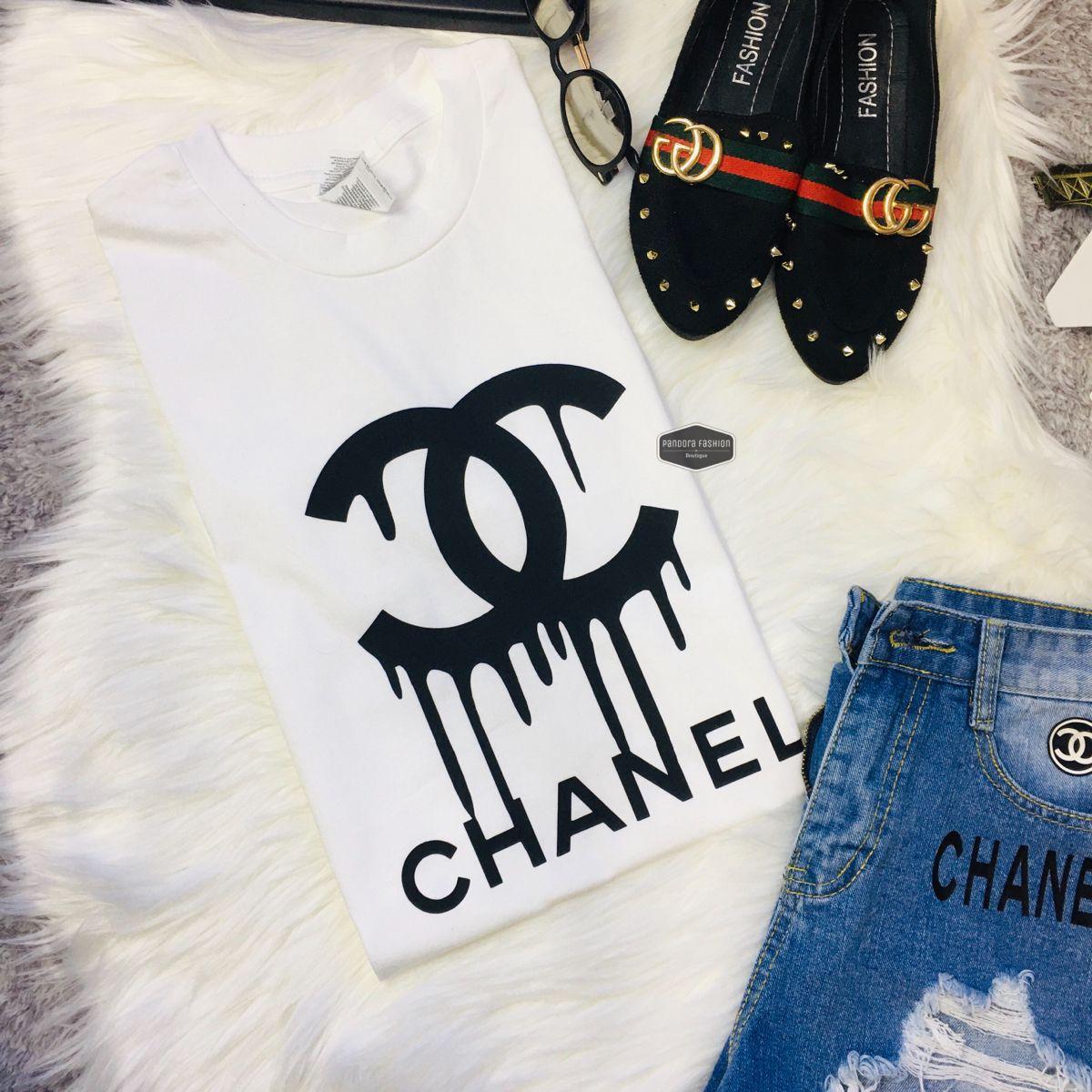 Tshirt CC Paris n5 logo graphic100 cotton unissex in