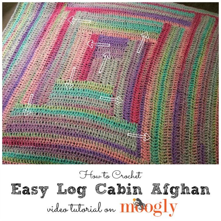 Easy Log Cabin Afghan Tutorial - free video and pattern on ...