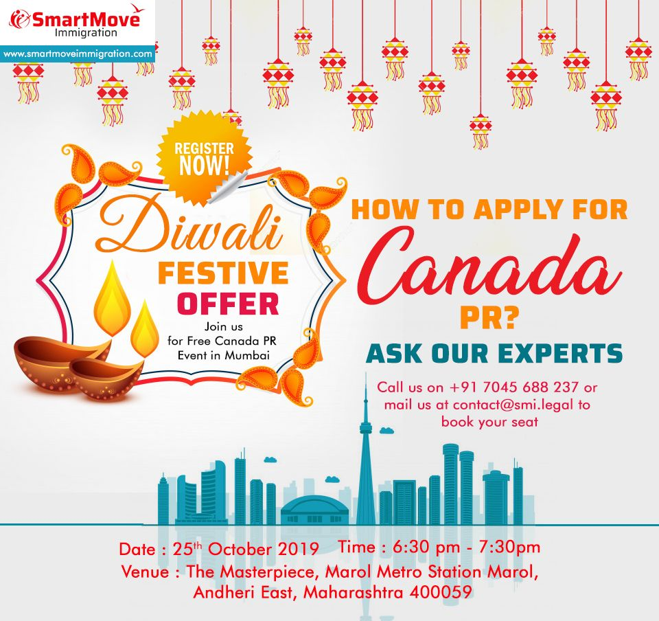Festive Offer Get Your Seat Reserved For Canada Pr Attend An Event With Smartmove Immigration And Make Your Canada Pr Appli Immigration Australia Visa Canada
