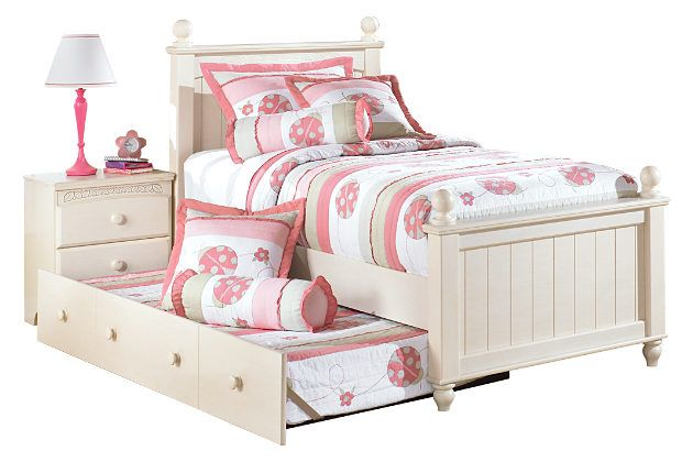 White Cottage Retreat Twin Poster Bed With Trundle By Ashley Homestore With Images Girls Bedroom Sets Bedroom