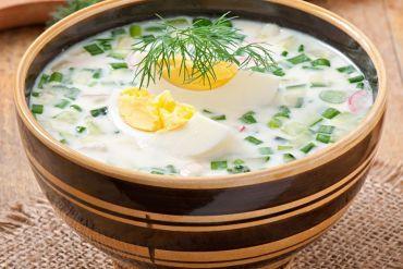 Kalte Kefir-Suppe Okroschka