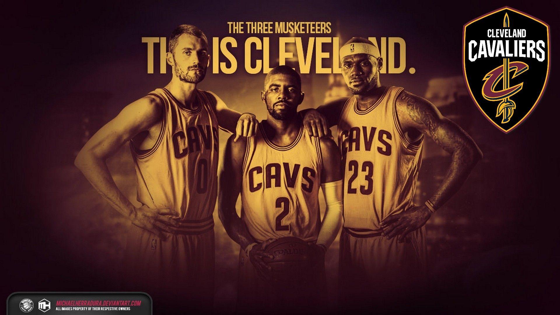 Big 3 Cleveland Cavaliers Wallpaper Hd 2021 Basketball Wallpaper Cavaliers Wallpaper Lebron James Background Lebron James Cleveland