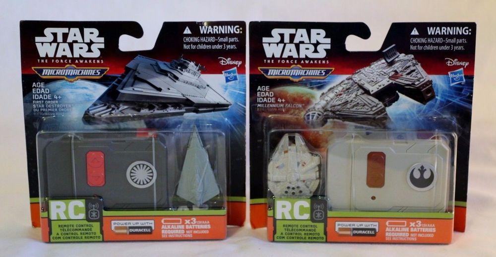 STAR WARS THE FORCE AWAKENS MICRO MACHINES MILLENNIUM FALCON RC REMOTE CONTROL