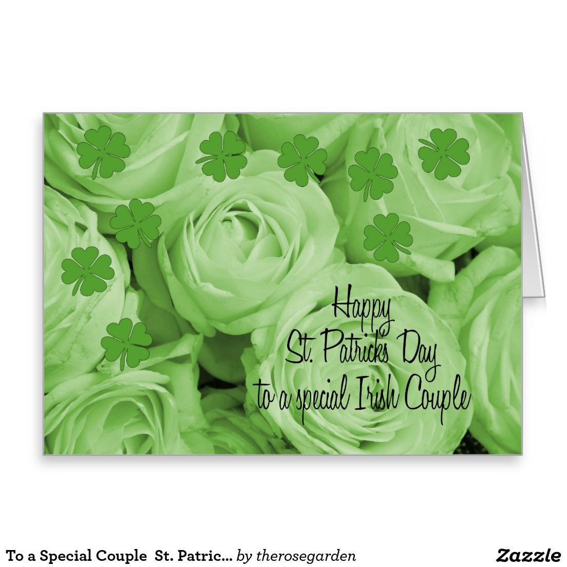 To a special couple st patricks irish roses shared board for to a special couple st patricks irish roses greeting card m4hsunfo