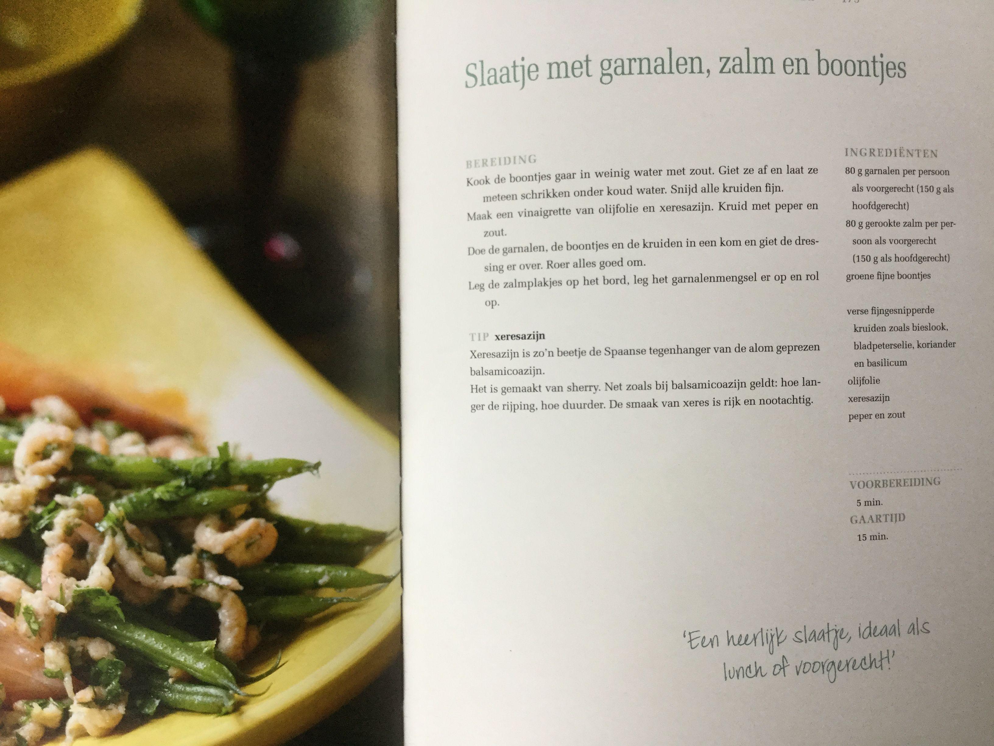 Mijn Pure Keuken : Slaatje met garnalen zalm en boontjes pascal naessens mijn pure