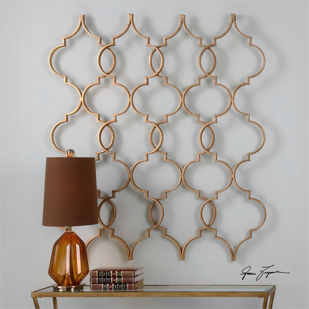 Zakaria gold wall art uttermost wall craves pinterest gold