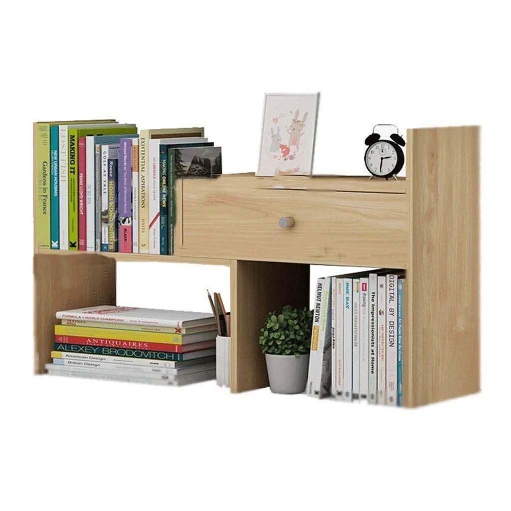 Fepdw Desktop Organiser Bookshelf Counter Bookcase With 1 Drawers Desk Storage Display Shelf Assembled Rack For Office Kit Small Bookshelf Bookcase Bookshelves