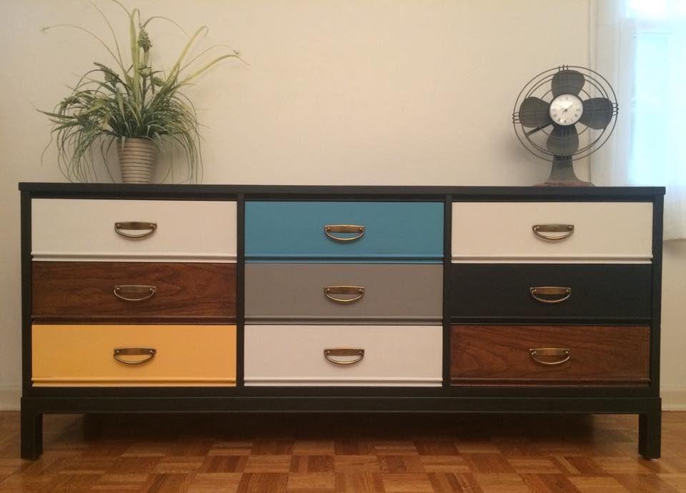 Best Mid Century Dresser By Dixie Redesigned In A Sleek Black 400 x 300