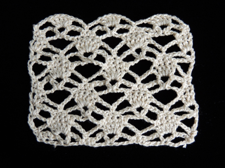 Crochet : Punto Piña # 1
