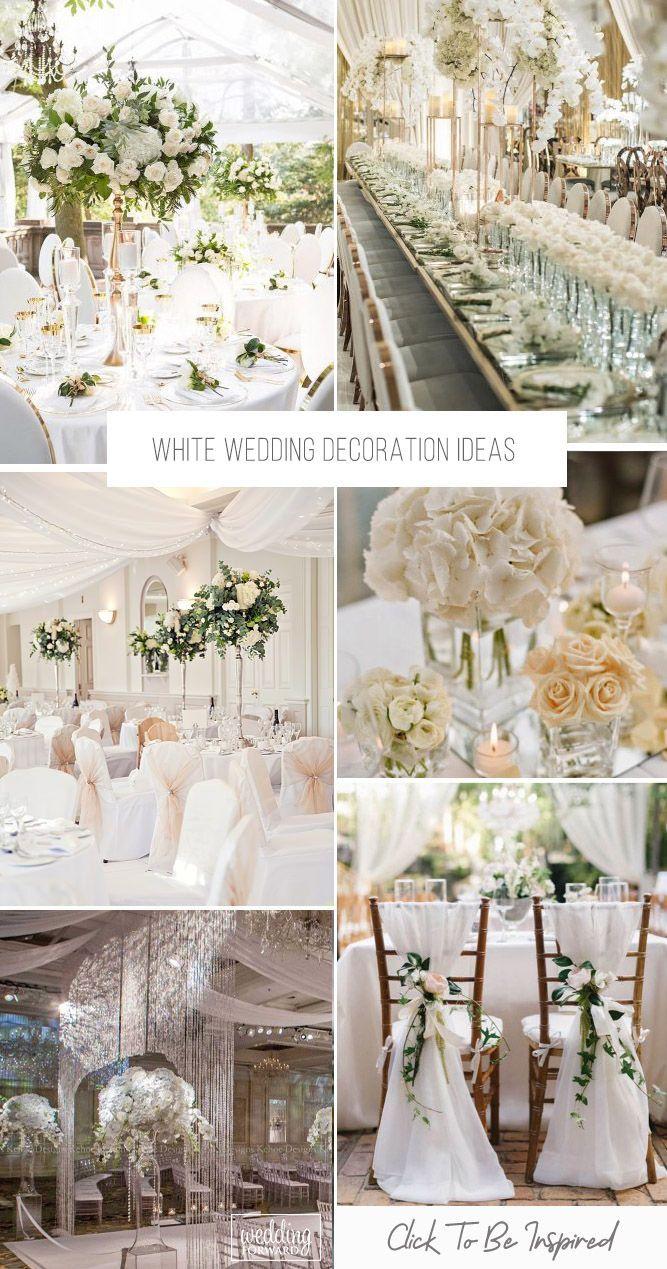 Les mariages tout blancs sont si romantiques et peuvent créer une atmosphère d'élégance pure …   – Event Decor