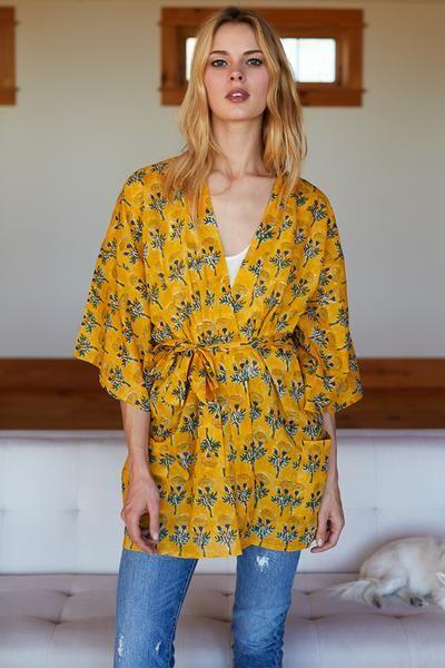 Fete Kimono - Marigolds Yellow #emersonfry