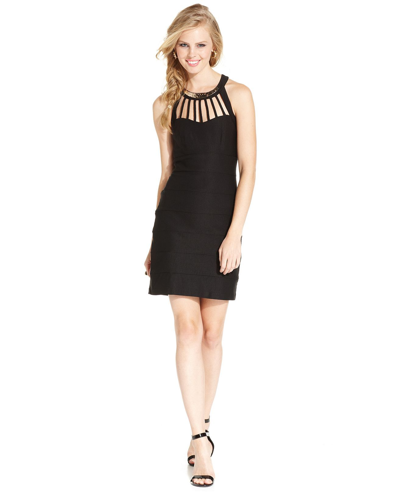 Trixxi Juniors' Banded Cutout Dress - Juniors Dresses - Macy's