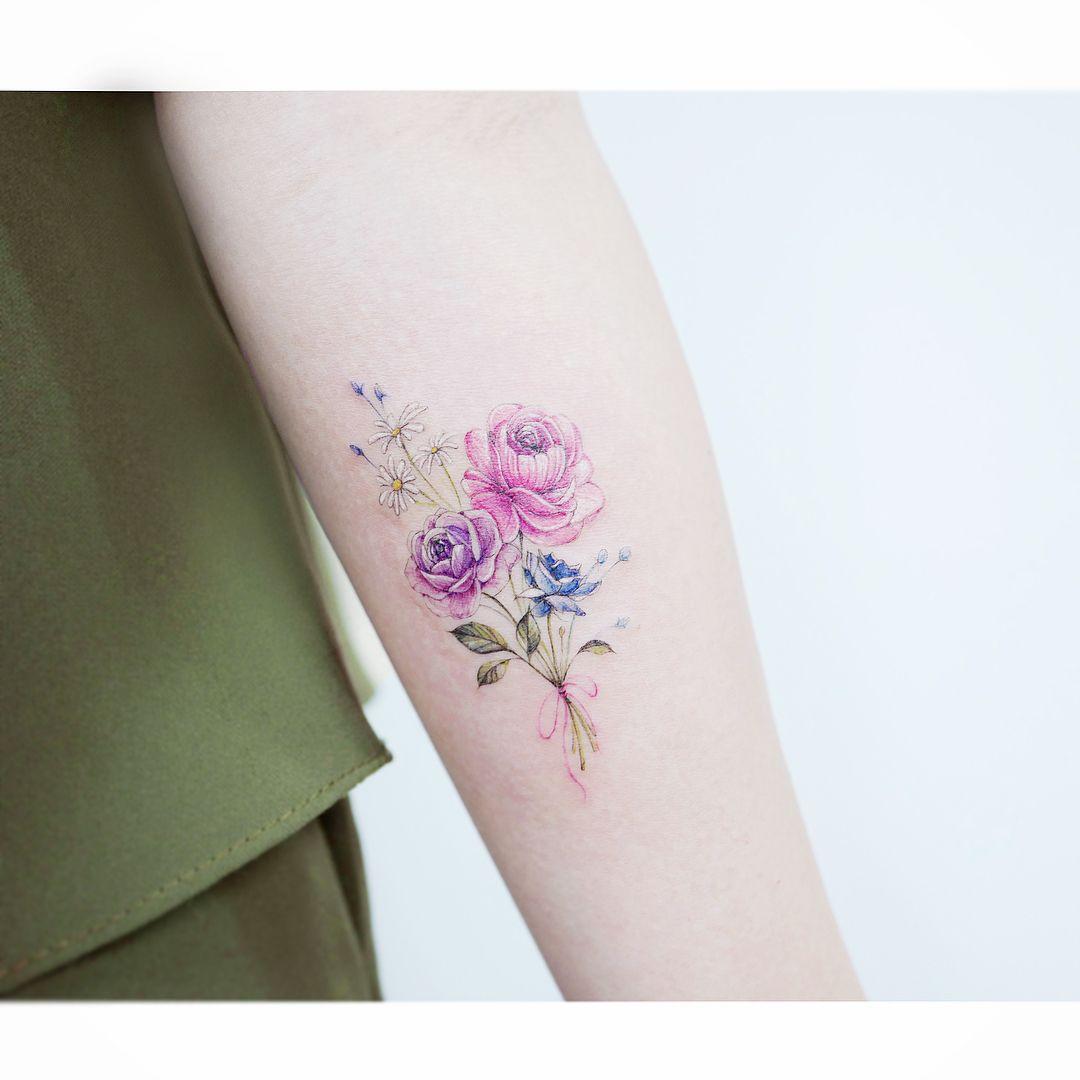 Watercolor tattoos korean style tattoos pinterest watercolour