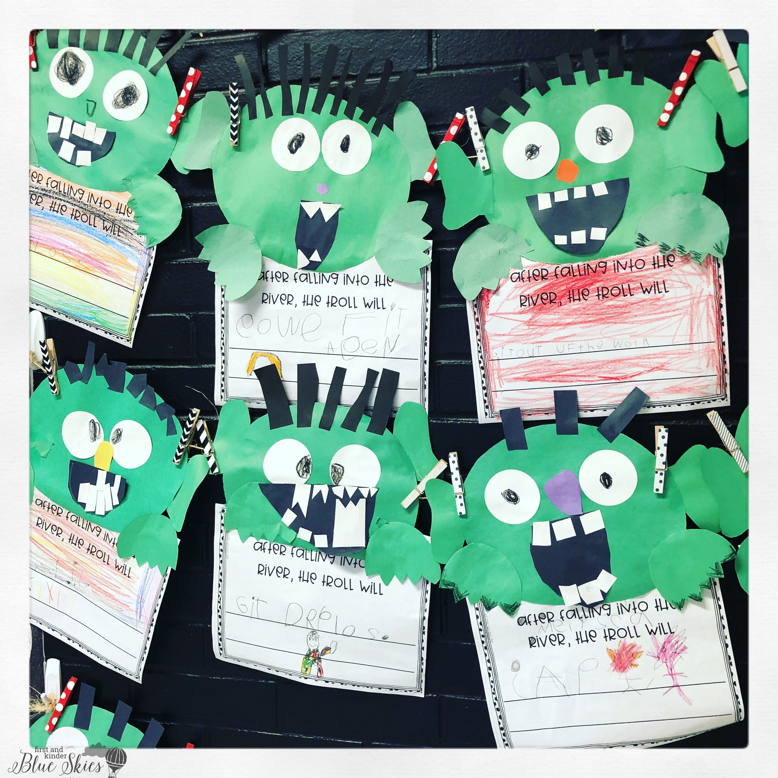 The Three Billy Goats Gruff Troll Craft Writing Stem Activity And Rhyming Game Character