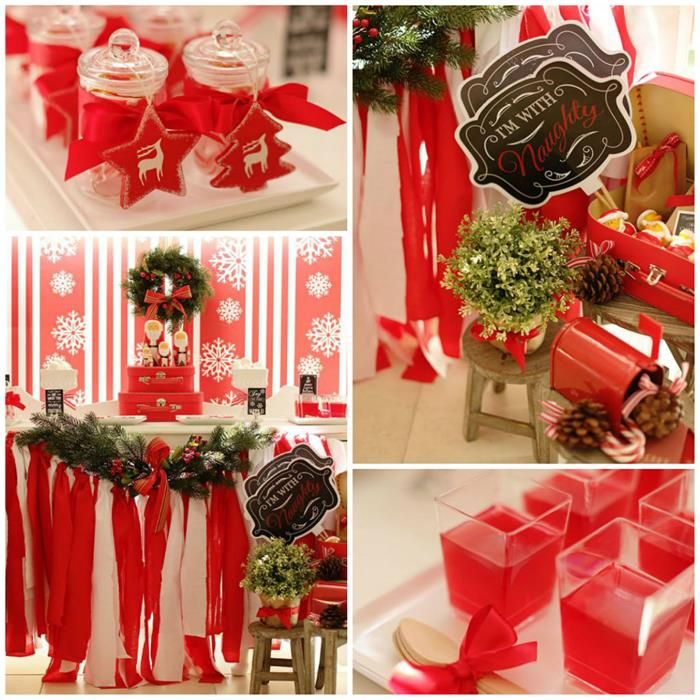 Christmas Party Favor Ideas For Adults Part - 19: Red And White Christmas Party {Ideas, Supplies, Decor}