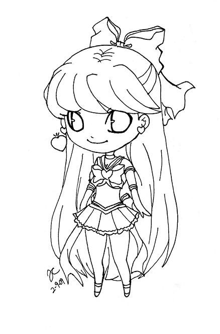 chibi sailor venus2 by NekoXSquishyKirai | Sailor Moon Lineart ...