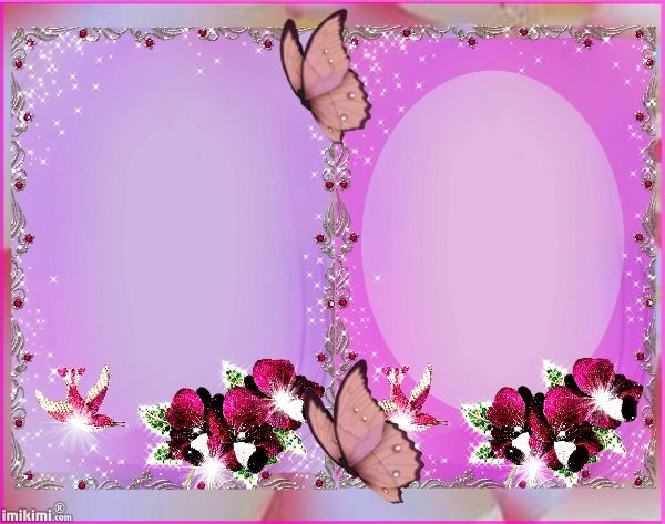 Double Silver And Lavender Frame
