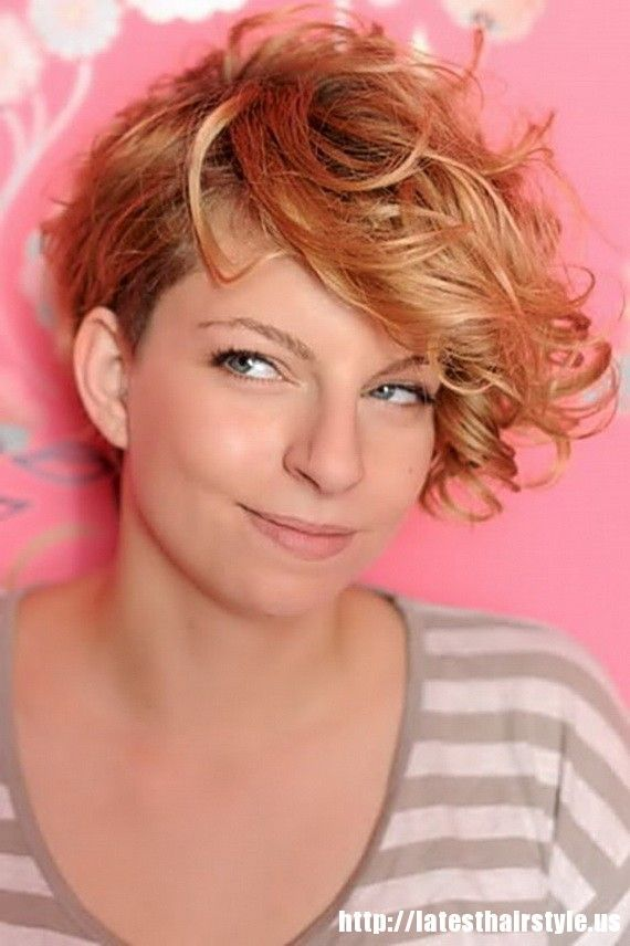 Daring Curly Asymmetrical Short Haircut Short Hairstyles For Round
