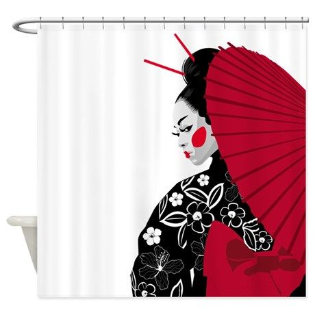Geisha Shower Curtain 5999 On CafePress Cafepress