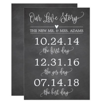 Our Love Story Timeline Wedding Sign Decor Card - wedding - best of wedding invitation card ideas pinterest