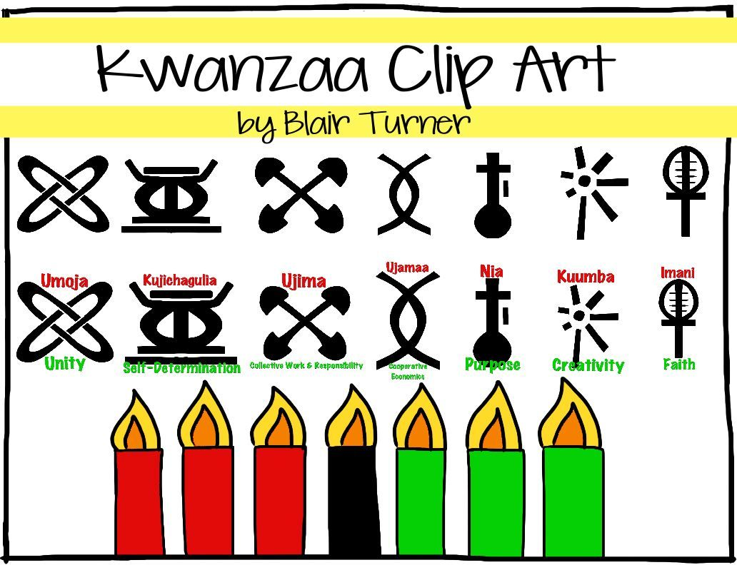 Image Search Included 3 Frames 7 Symbols Of Kwanzaa 7