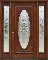 Full Oval Exterior Doors with Sierra Glass Zinc Came | Ideas for ...