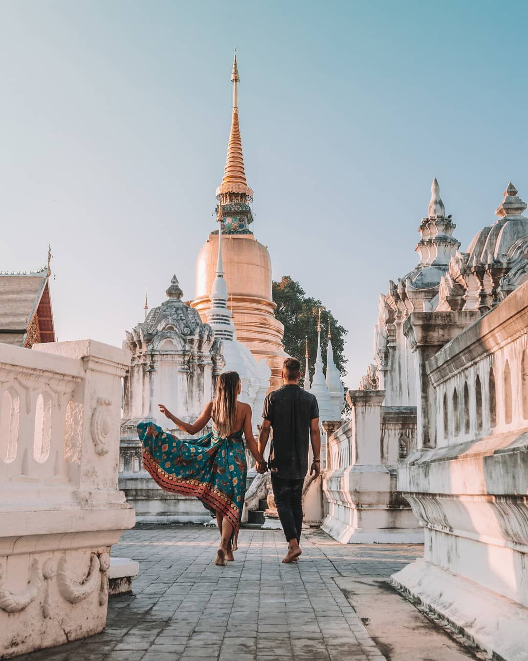 #traveling teaches us to be more grateful #couple #culture #thailand #temple