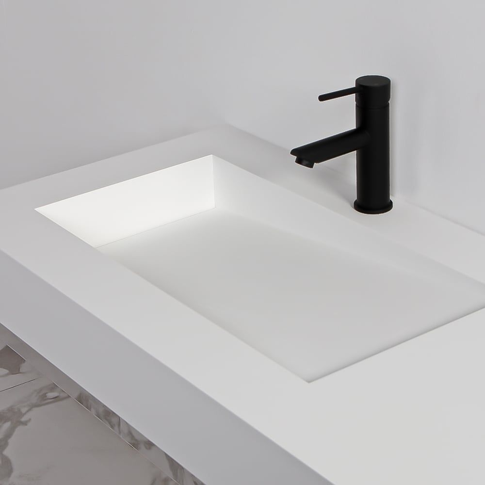 Lusso Stone Slope Solid Surface Stone Resin Wall Hung Basin 1200 | Stone  Resin Basins