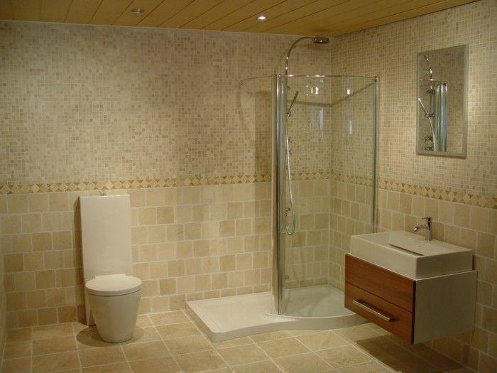 Modernes Bad Einrichten Beige Farbe Kleines Bad Gestalten