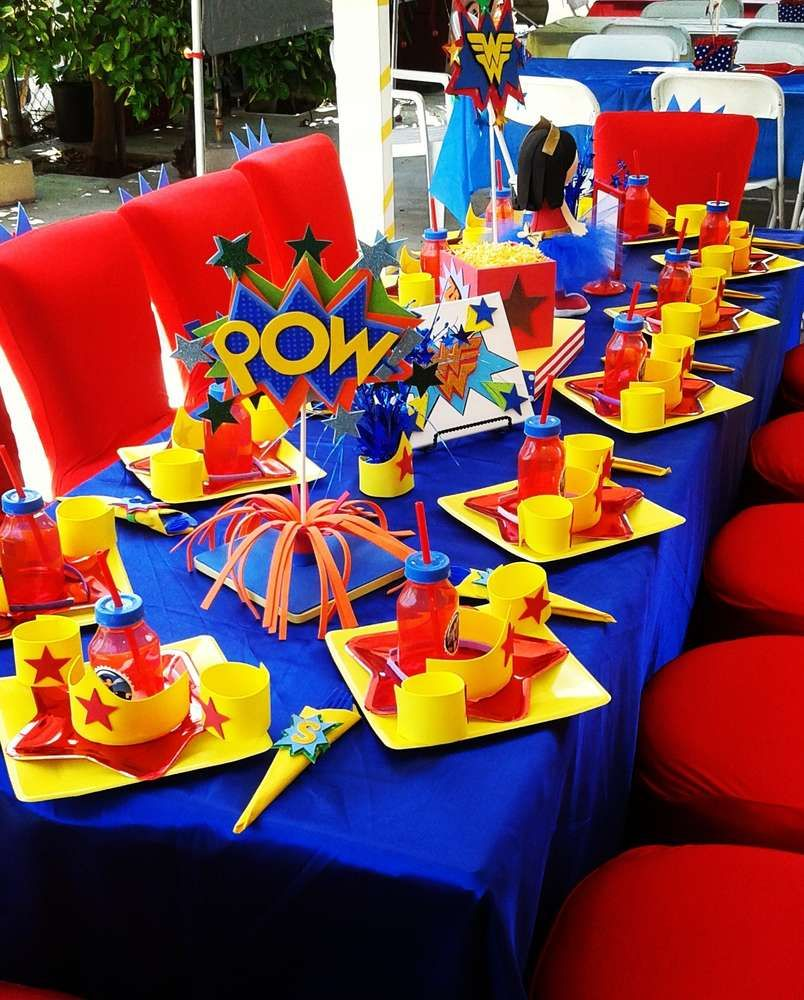 Wonder woman birthday party ideas mujer maravilla la for Decoracion wonder woman