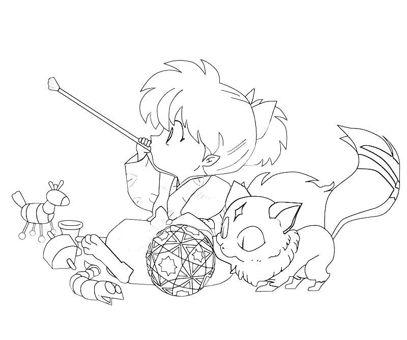 Inuyasha Chibi Coloring Pages Animal Coloring Pages Cute Coloring Pages