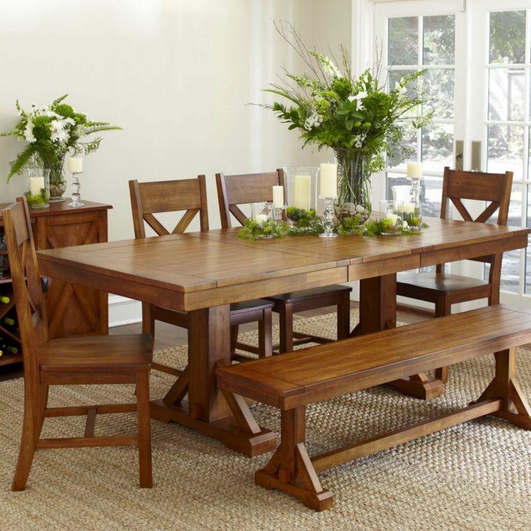 Mesas de comedor y sillas de comedor ideas excepcionales Mesa de - Comedores De Madera